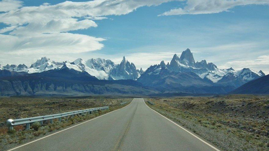 Cerro Torre und Fitz Roy Los Glaciares Nationalpark El Chaltén Patagonien Argentinien