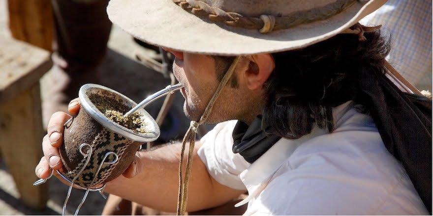 Gaucho Mate Patagonien Argentinien