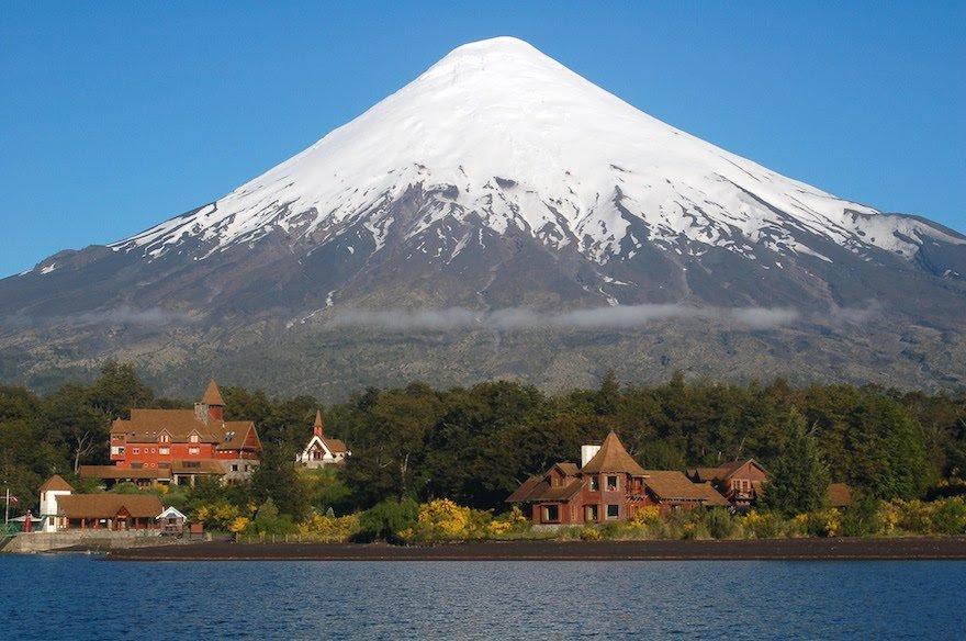 Vulkan Osorno Petrohue Lodge Seenregion Chilenische Schweiz Chile