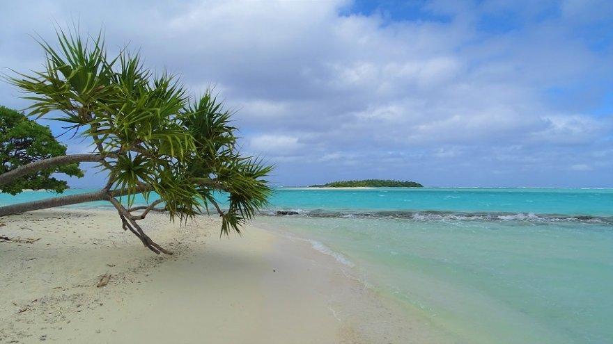 Cook Inseln Lagune Motu Aitutaki