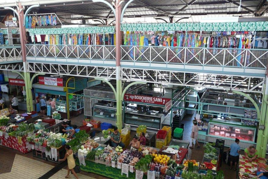 Tahiti farbenfroher Markt Papeete