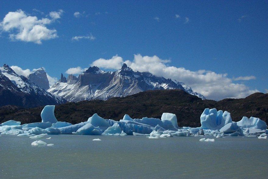 Lago Grey nationalpark torres del paine chile patagonien gletscher eisberge