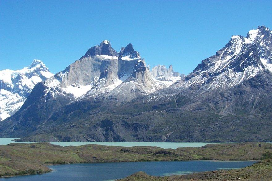 Los Cuernos nationalpark torres del paine patagonien magallanes