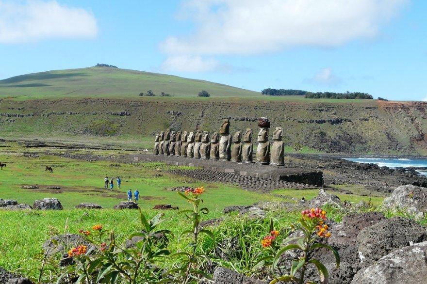 Ahu Tongariki Moai Osterinsel Chile Rapa Nui