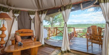 Zimmer im Elephant Bedroom Camp