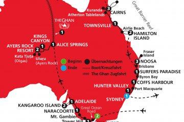 Kaleidoskop Australien - deutschsprachige Busrundreise
